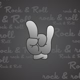 Rock and roll theme hand gesture Stock Photo