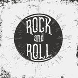 Rock and Roll. Typography for t-shirt graphic Stock Image