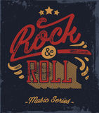 Rock and Roll. Typography. Vector t-shirt or poster design. Tee template vector illustration