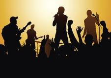 Rock and roll vivo ilustração stock