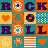Rock and roll wzór Zdjęcie Stock