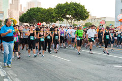 Rock-and-Rollmarathon in Los Angeles am LA Phasen Lizenzfreie Stockfotografie