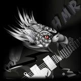 Rock-and-Rollmetallaufschrift Stockfoto