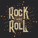 Rock-and-Rollt-shirt Grafikdesign, Vektor-Illustration Stockfoto
