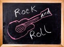 Rock-and-Rollwort auf Tafel Lizenzfreies Stockbild