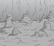 Rock ruins  draw Royalty Free Stock Photos