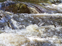 Rock in Rushing River Royalty Free Stock Photo