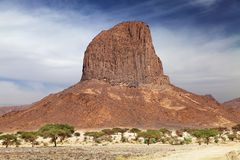 Rock in Sahara Desert Stock Photography