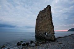 Rock Sail on Black Sea Stock Photos