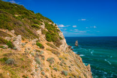 Rock sail in Gaspra Yalta. View of the rock sail in Gaspra Yalta on the Black Sea in Crimea in autumn Stock Photography