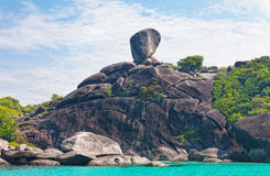 Rock Sail on Similan Stock Image