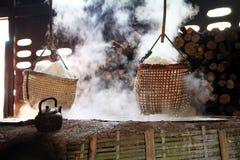 Rock salt  boiling Stock Photo