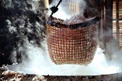 Rock salt boiling Stock Photography