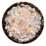 Rock Salt Isolated Top View Royalty Free Stock Photography