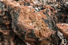 Rock salt on stones Stock Image