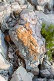 Rock salt on stones Stock Photography