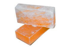 Rock Salt Tiles & Bricks. Rock salt tiles & bricks are famous all over the world. These are crafted from rock salt from mines in Salt Range Mountain located Stock Photo