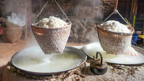 Rock salt to boil Royalty Free Stock Images