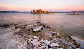 Rock Salt Tufa Formations Sunset Mono Lake California Nature Out Royalty Free Stock Photography
