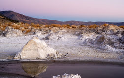 Rock Salt Tufa Formations Sunset Mono Lake California Nature Out Royalty Free Stock Images