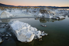 Rock Salt Tufa Formations Sunset Mono Lake California Nature Out Stock Photography