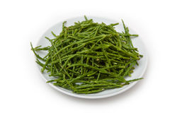 Rock samphire on plate Stock Images