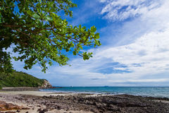The rock and sand beach koh larn pattaya Stock Photos