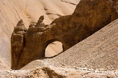 Rock and Sand formation at Himalaya mountains Royalty Free Stock Image