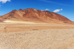 Rock and sand formations in the Atacama desert royalty free stock photos