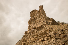 Rock and Sandstone Formation. Upward angle of a sandstone formation, Utah Royalty Free Stock Photography