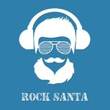 Rock Santa Claus character illustration stock illustration