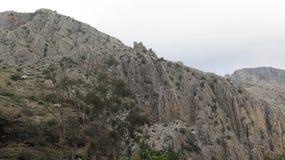 Rock-scape near El Chorro Royalty Free Stock Photo