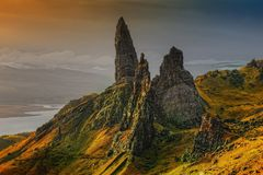 Rock, Scotland, Isle Of Skye Stock Photo