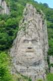 Rock sculpture of Decebalus, king of the Dacians Royalty Free Stock Photos