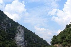 Rock sculpture of Decebalus Rex Romania Stock Photography