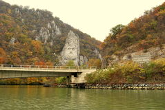 Rock sculpture of Decebalus Royalty Free Stock Photo
