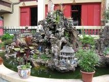 Pond at Chuk Lam Sim Monastery, Tsuen Wan, Hong Kong royalty free stock image