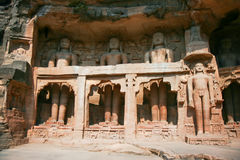 Rock sculptures near Gwalior Gate, Gwalior,  India Stock Photo