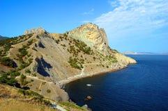 Rock and sea. Noviy svet, Crimea, Ukraine Stock Images