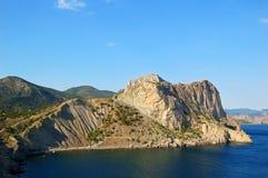 Rock and sea. Noviy svet, Crimea, Ukraine Royalty Free Stock Photography