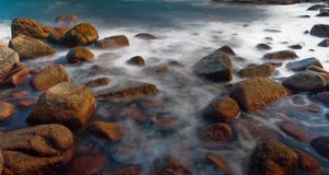 Rock in sea Royalty Free Stock Photography