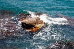 Rock in the sea Royalty Free Stock Photo