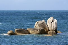 Rock and the sea Royalty Free Stock Images