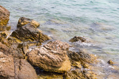 Rock in the sea for a background. Royalty Free Stock Photos