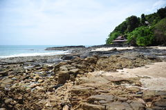 Rock sea, beach and sky Royalty Free Stock Photography
