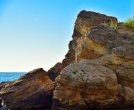 Rock in sea Royalty Free Stock Photo
