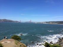 Sea gold gate bridge stock photos