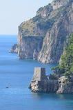 Rock Sea Cliffs on the Amalfi Coast in Italy Stock Photos