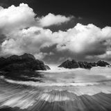 Rock, sea and cloud Royalty Free Stock Photo