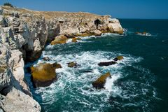 Rock sea coast Tulenovo royalty free stock image